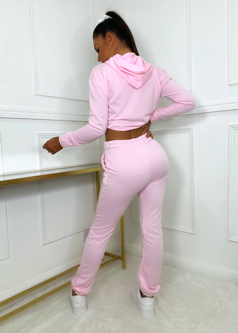 Too Busy Chilling Tracksuit - Pink