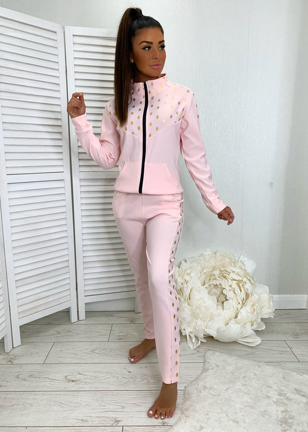 On The Spot Tracksuit - Pink