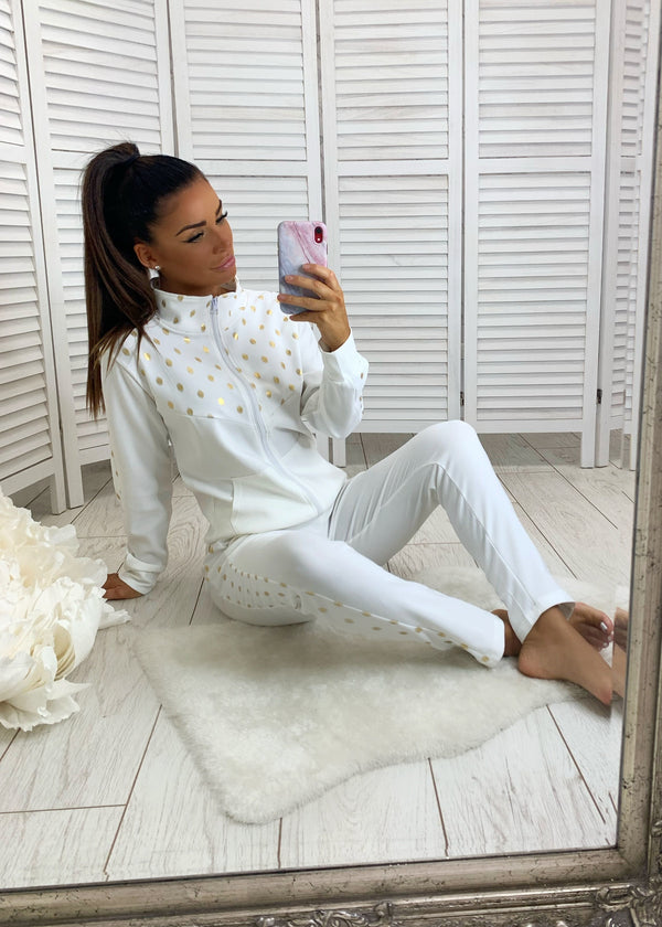 On The Spot Tracksuit - White