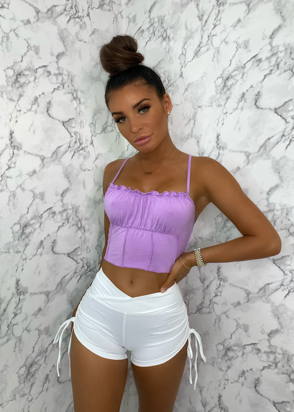 Basic Instinct High Waisted Shorts - White