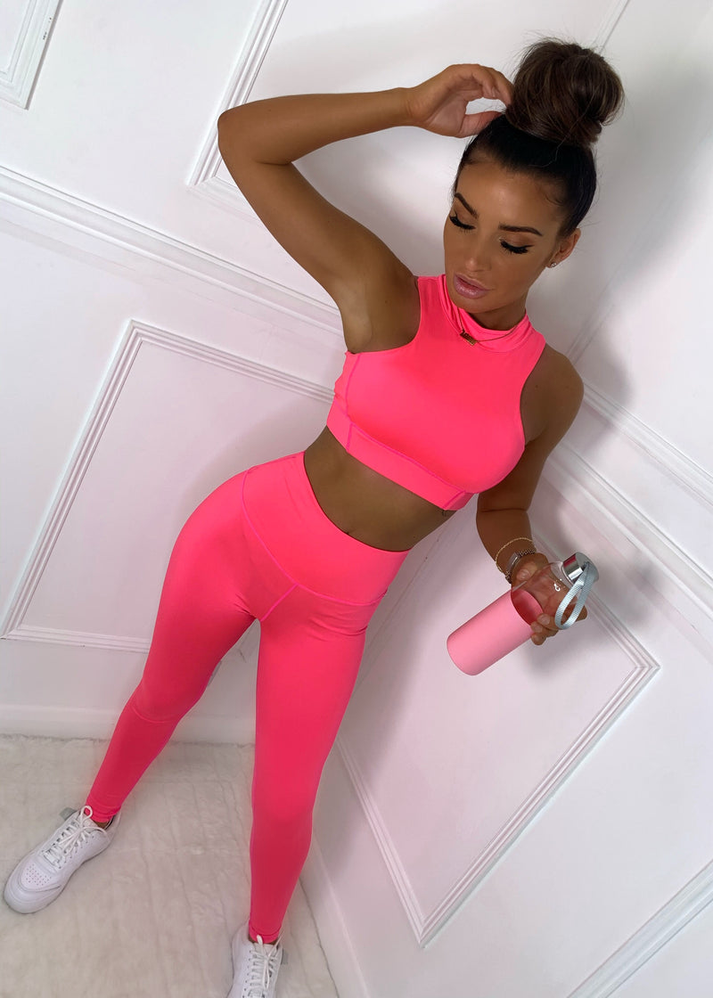 Electric Feelings Neon Active Two Piece - Neon Pink
