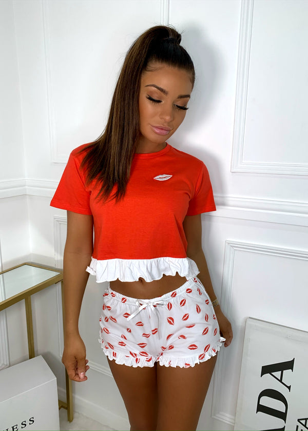 Red Kisses PJ Set