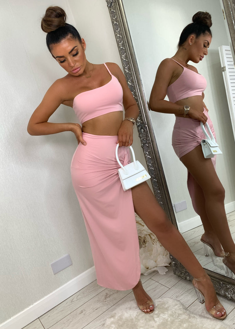 Twist Of Fate Two Piece - Blush Pink