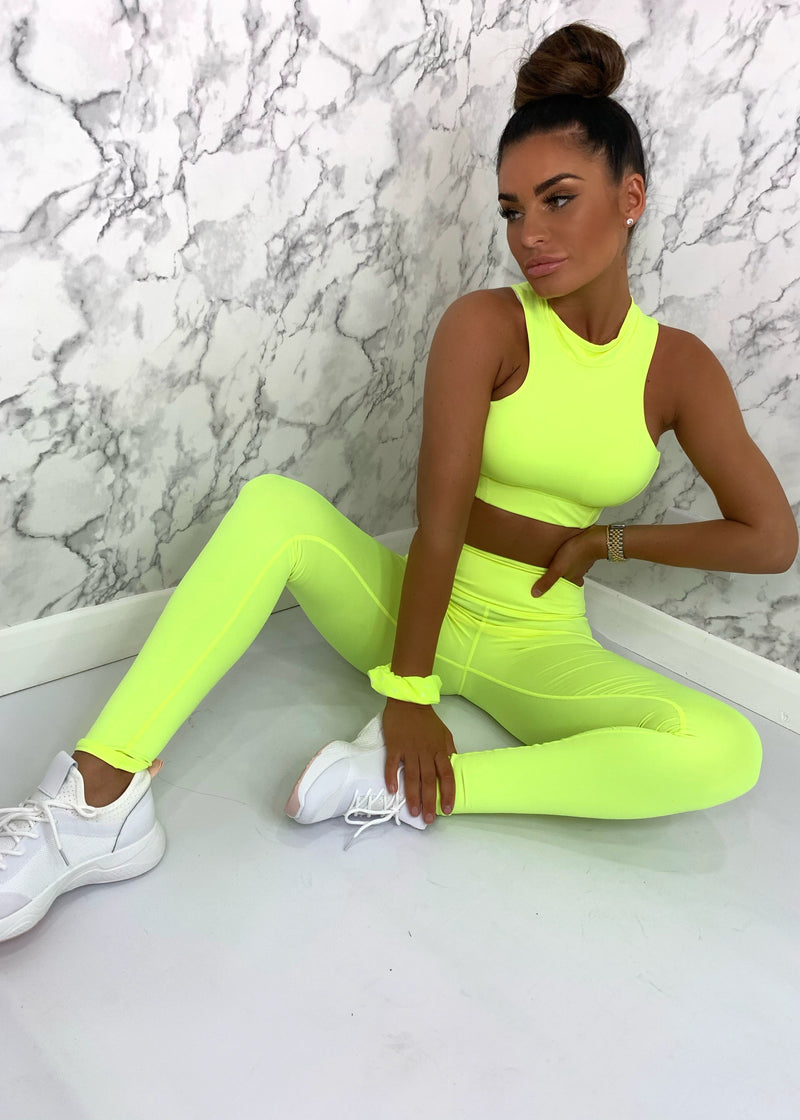Electric Feelings Neon Active Two Piece - Neon Yellow