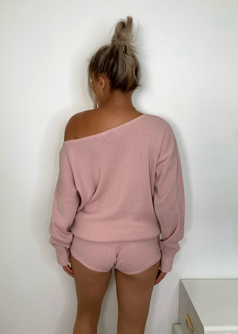 Weekend Loading Knitted Two Piece - Blush