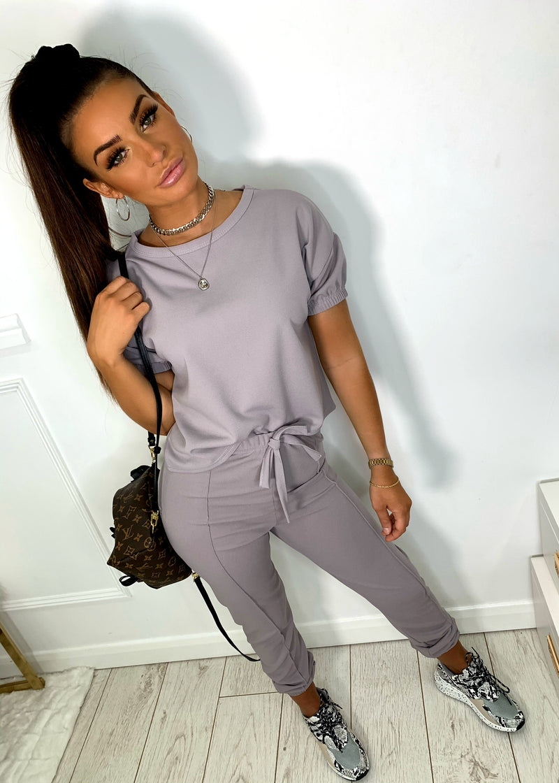 Easy Does It Two Piece - Grey