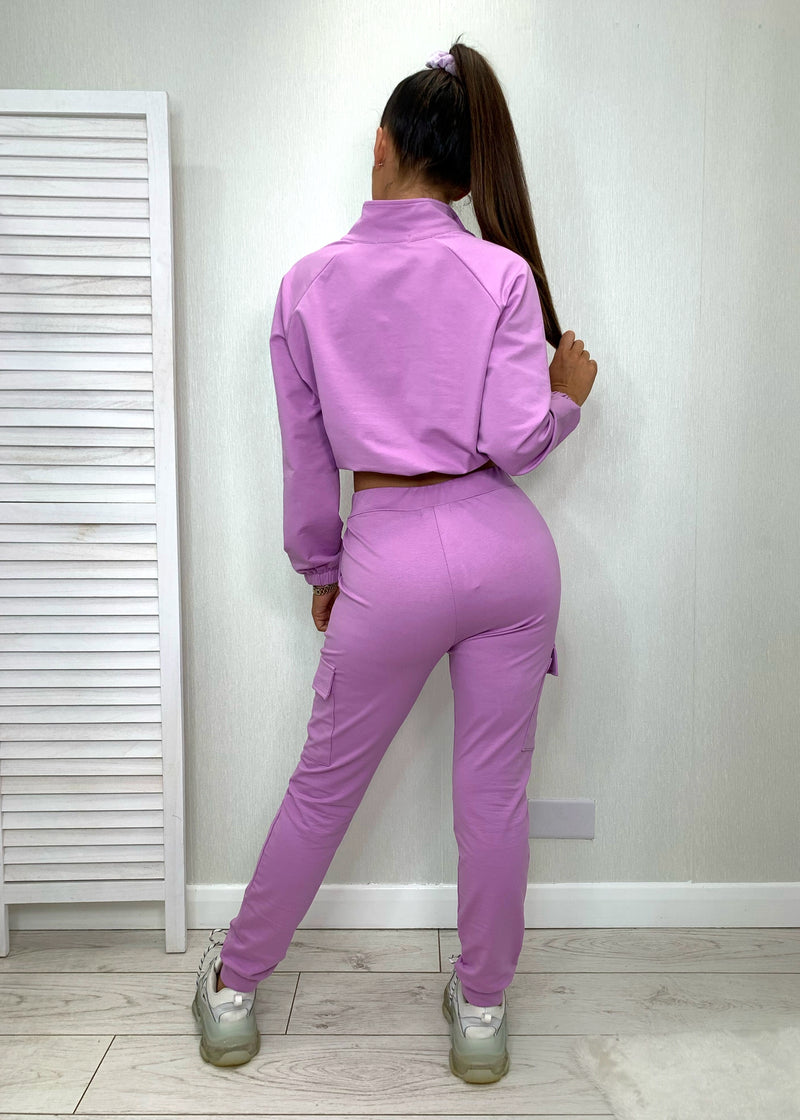 Amy Utility Tracksuit - Lilac