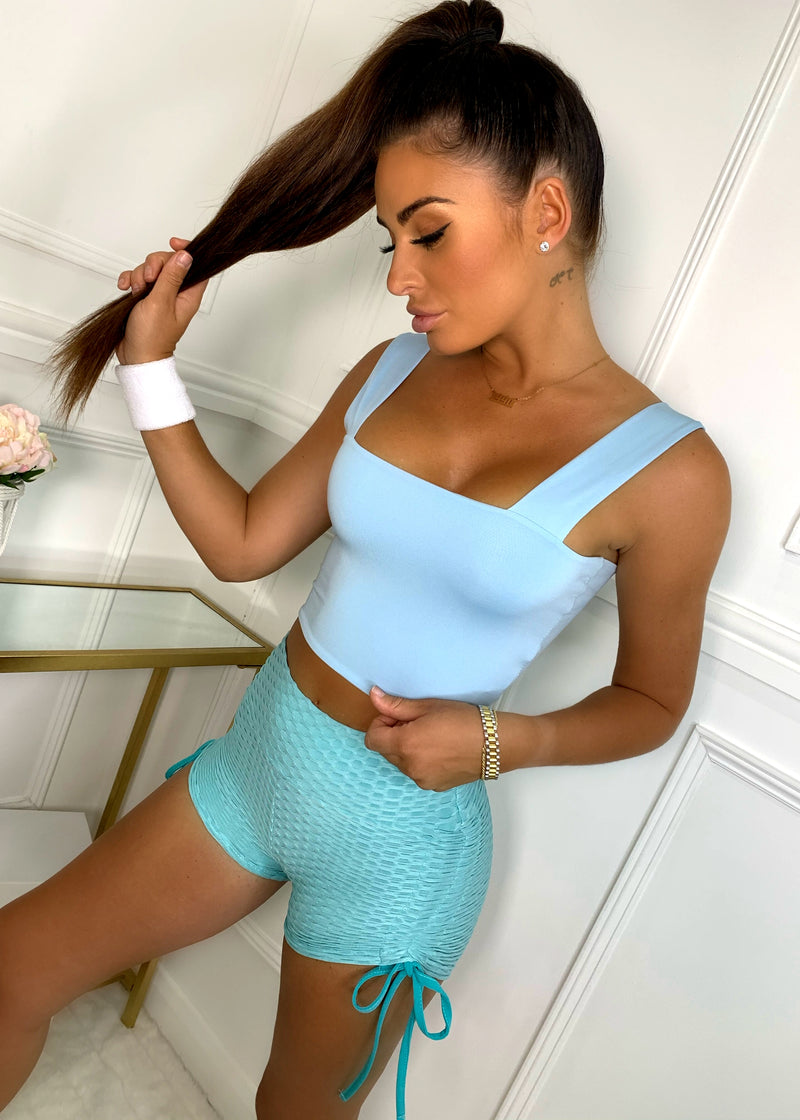 Crop Of The List Top - Baby Blue