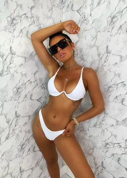 By My Side Ribbed Bikini - White
