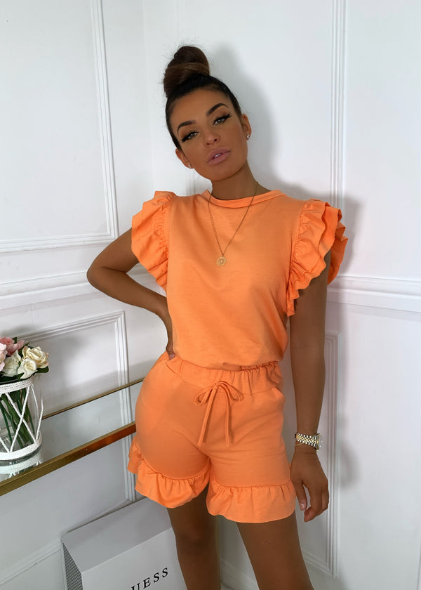 Frill Next Time Two Piece - Orange