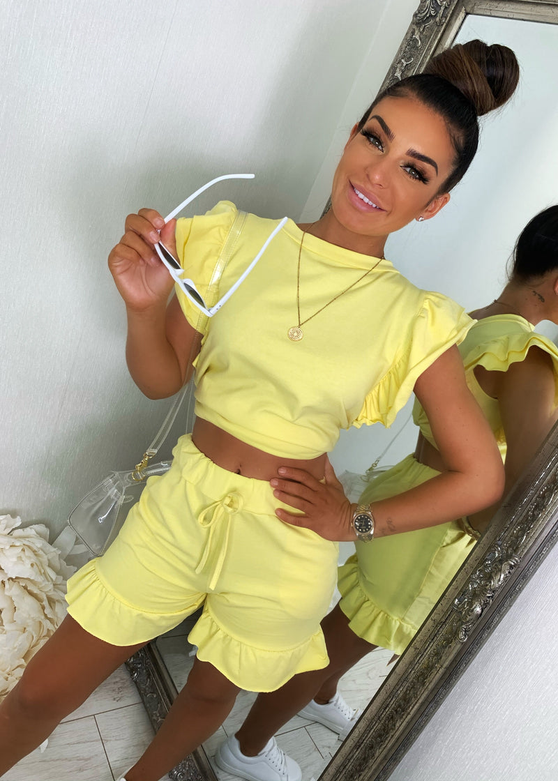 Frill Next Time Two Piece - Yellow