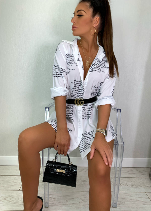 Sleek The Word Shirt Dress
