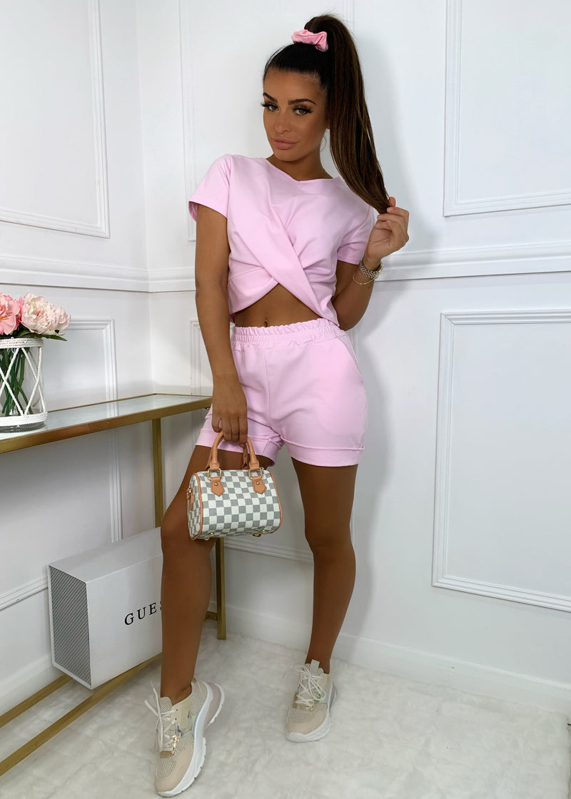 Love Twist Two Piece - Pink