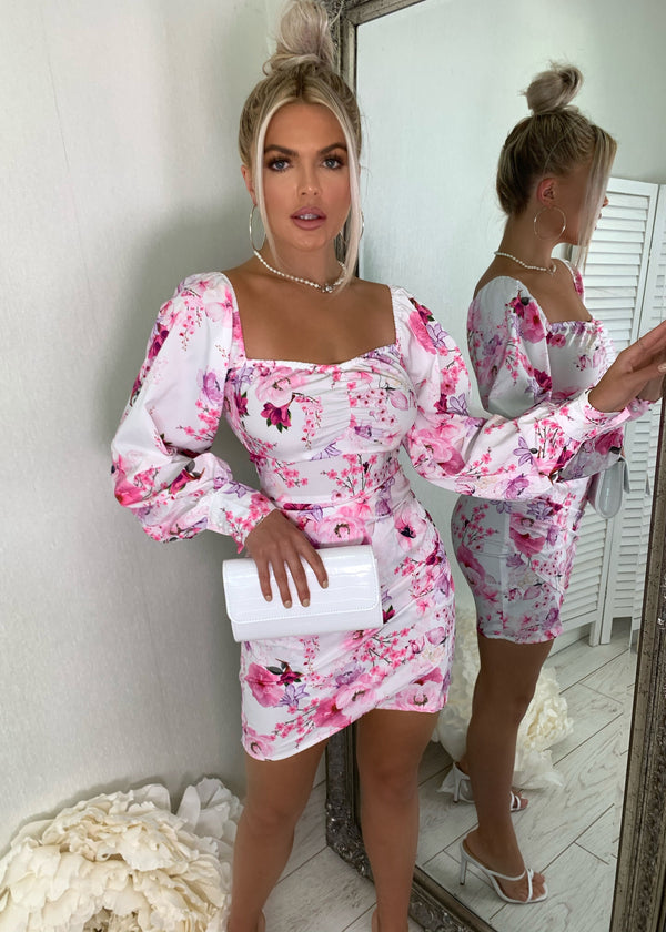 Watch The Runway Floral Print Dress - Pink