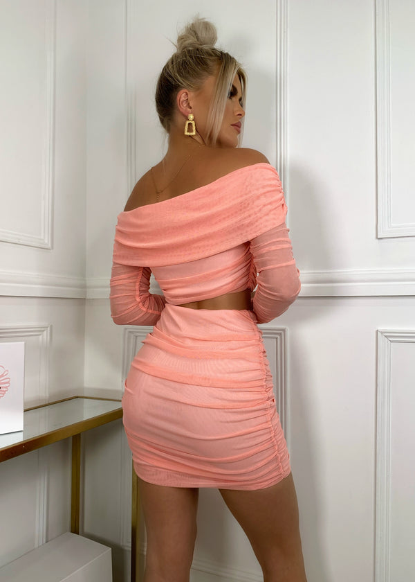 Play It By Sheer Two Piece - Coral