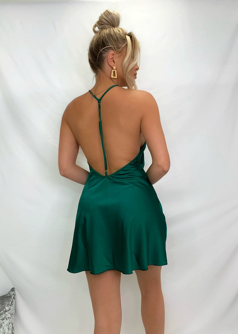 Straight To Sleek Nightie - Emerald Green