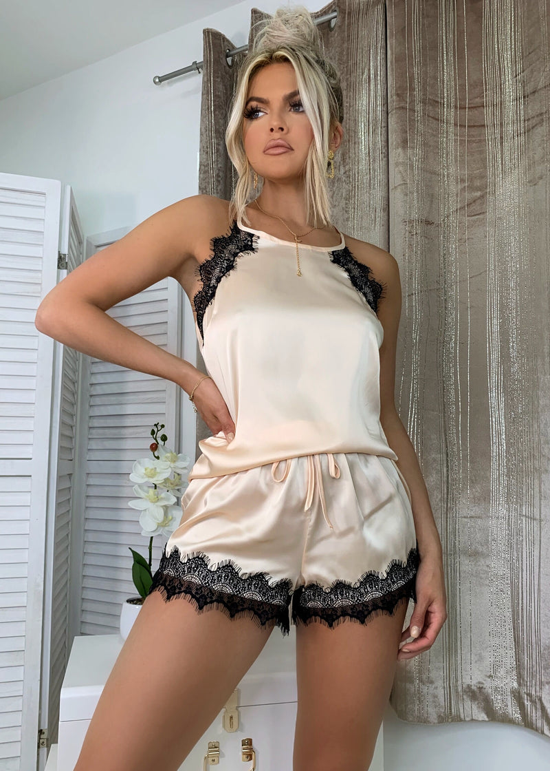 It Was All A Dream Satin Lace PJ Set