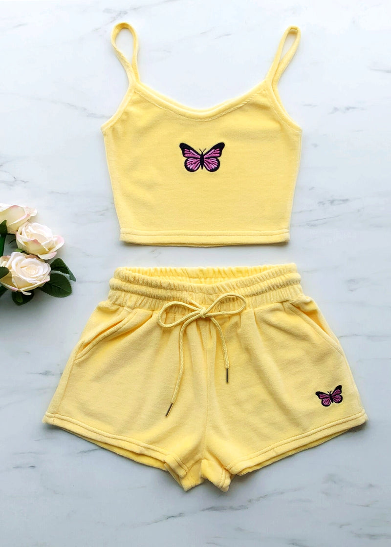 Keep Them Sweet Two Piece - Yellow
