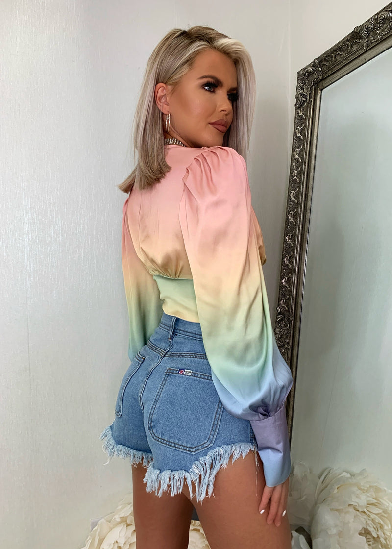 Sweet On You Multicoloured Satin Top