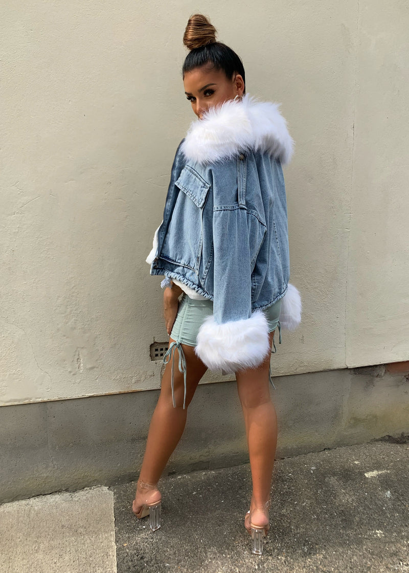 Crazy Fur You Denim Jacket