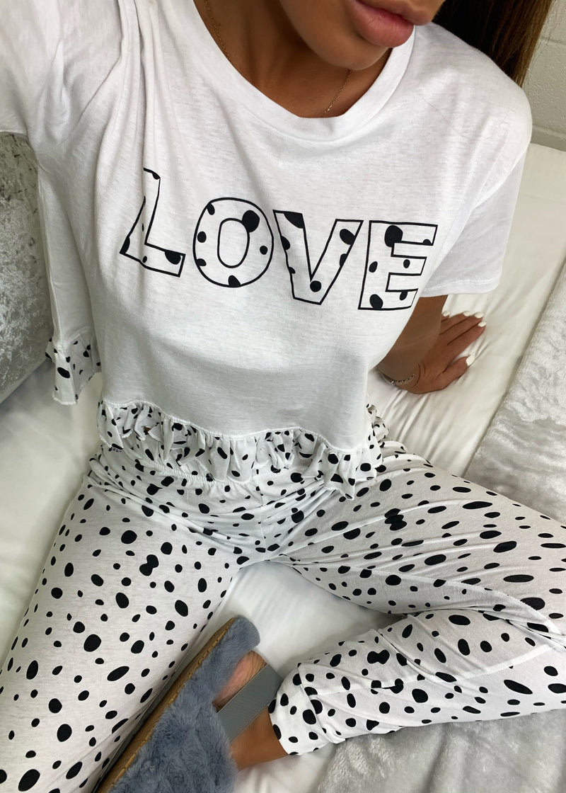Love Frills Pajama Pant Set