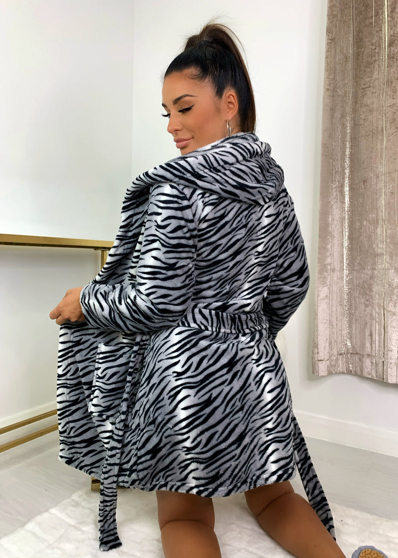Tiger Print Dressing Gown