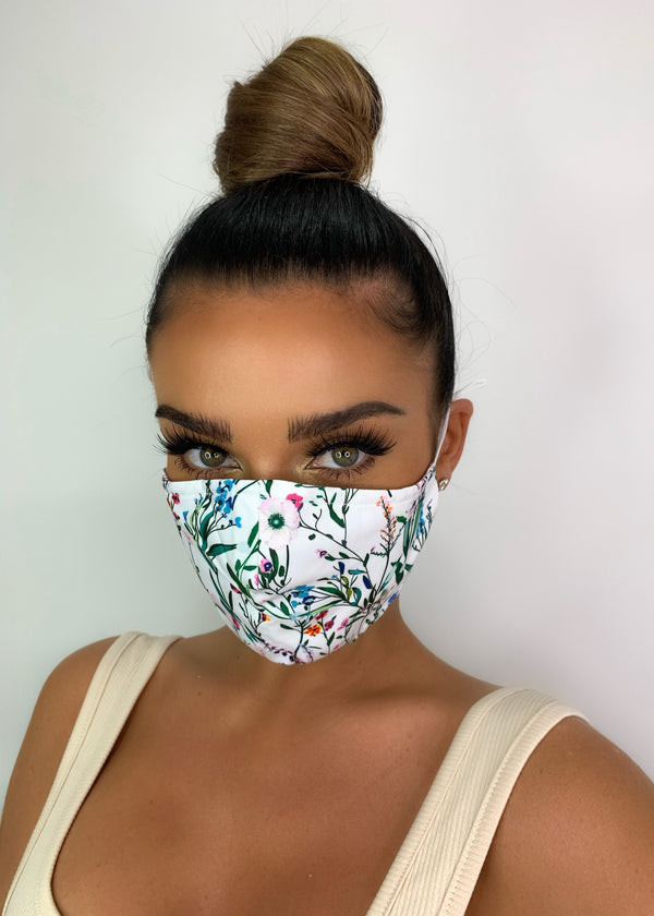 Botanic Garden Print Cotton Face Mask