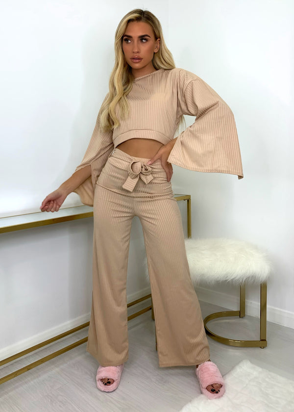 Penelope Ribbed Two Piece - Sand