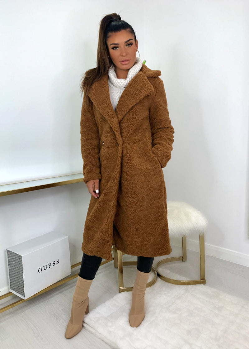 Fur Get Me Teddy Coat - Chestnut