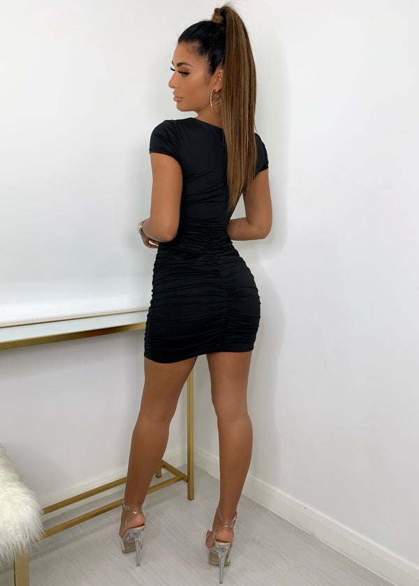 Everlasting Cut Out Bodycon Dress - Black