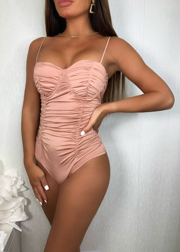 Out Of The Ruche Bodysuit - Rose