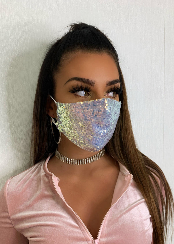 Saskia Sequin Face Mask - Unicorn