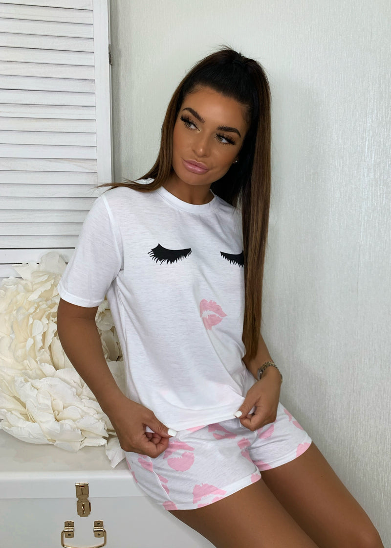 Sleepy Eyes PJ Set - Pink