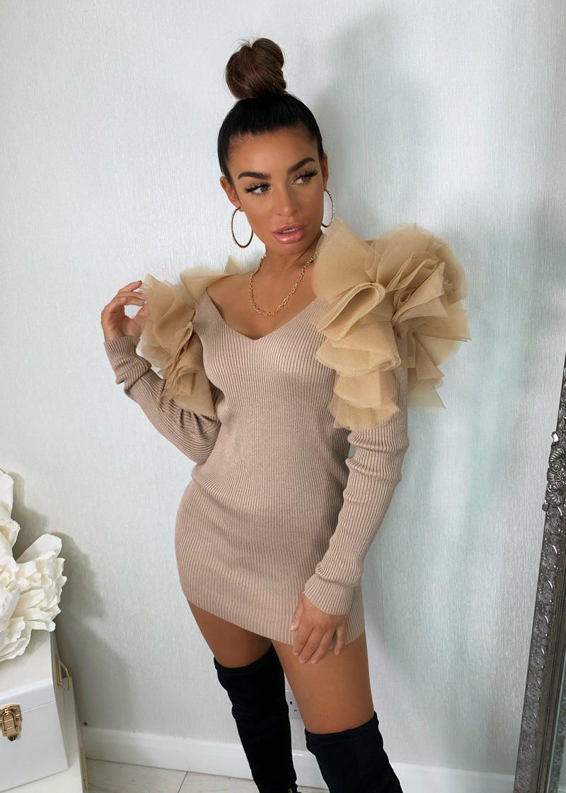 Live For The Frill Jumper - Camel