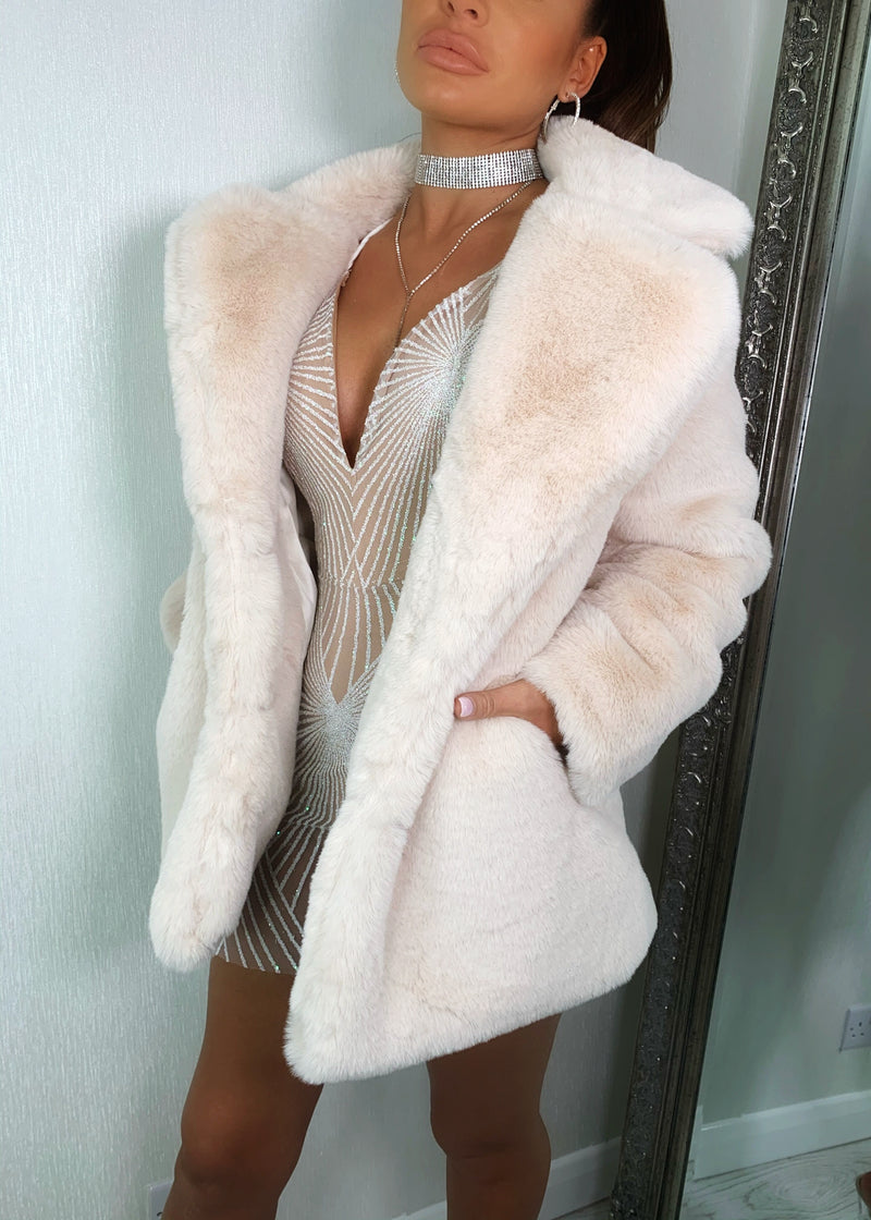 Softie Teddy Faux Fur Coat - Buttermilk