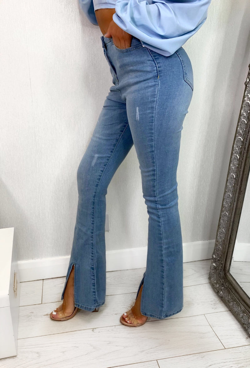 Fantasy Flares Cut Out Jeans