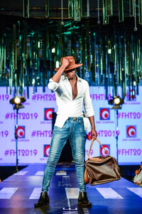 Suede Safari Hat with Full Leather Travel Bag @FHT2019