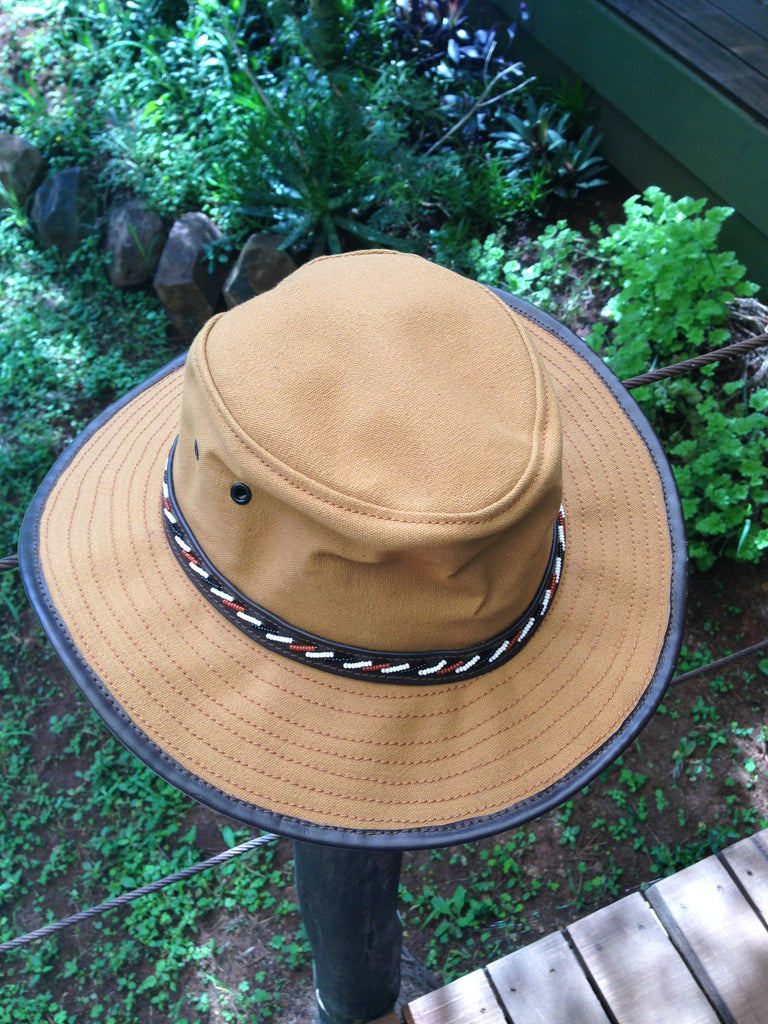 Canvas or Leather Safari Hat