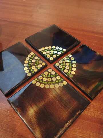 Mixed Medium - Wooden Coasters with Resin Finish