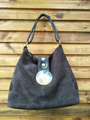 Sala Bag w Flap - Large (Suede)