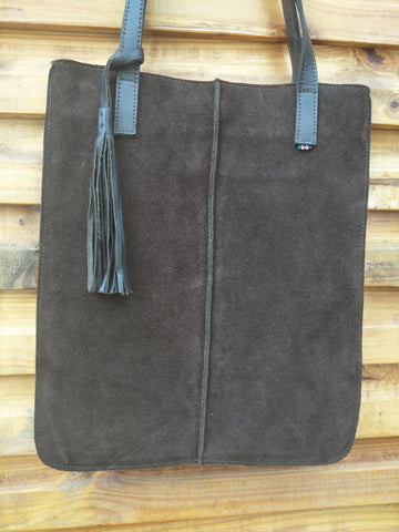 Rectangle Bag (Large) with Leather Tassel