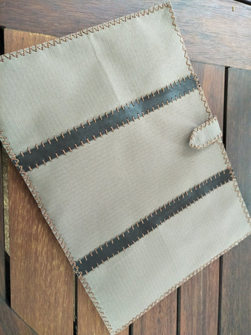 Copy of Laptop Sleeve 13-15 Inch Ripstop with Cross Stitch Edges and Leather Trim