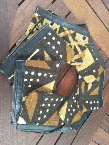 Material Purses made with Asoke (Mud Cloth)