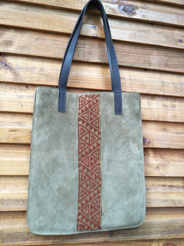 Rectangle Bag (Large) With Beaded Centre