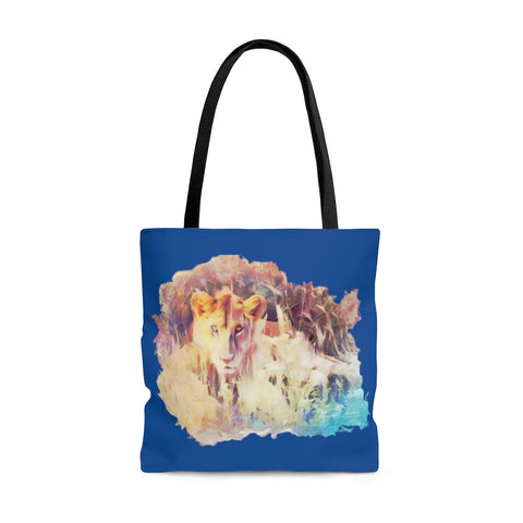 Swahili Simba Tote Bag - Royal Blue