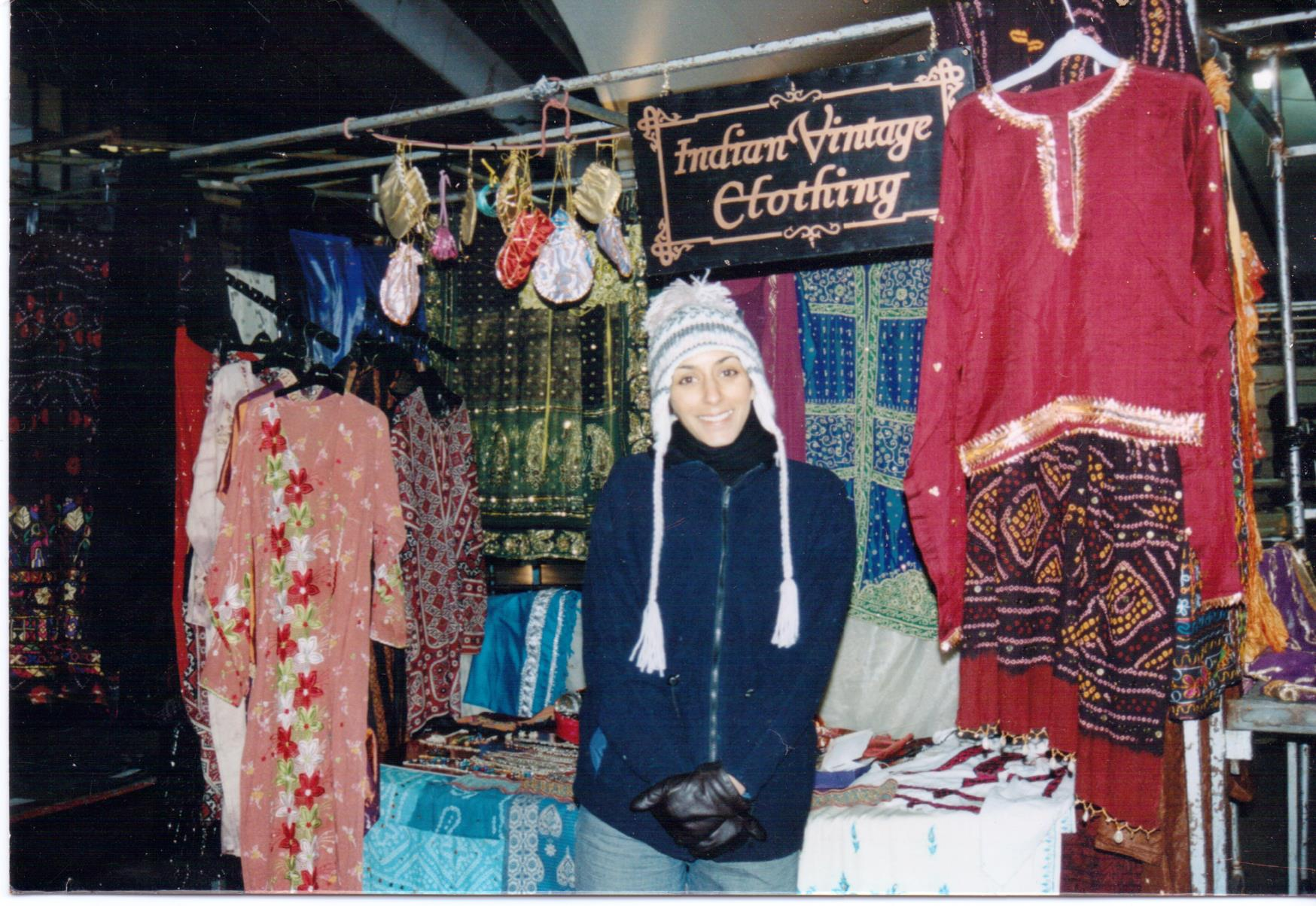 Naj Indian Vintage market stall
