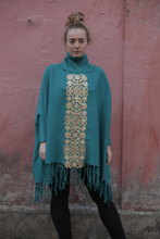 Load image into Gallery viewer, Boutique Poncho Cozmic Stars Mermaid