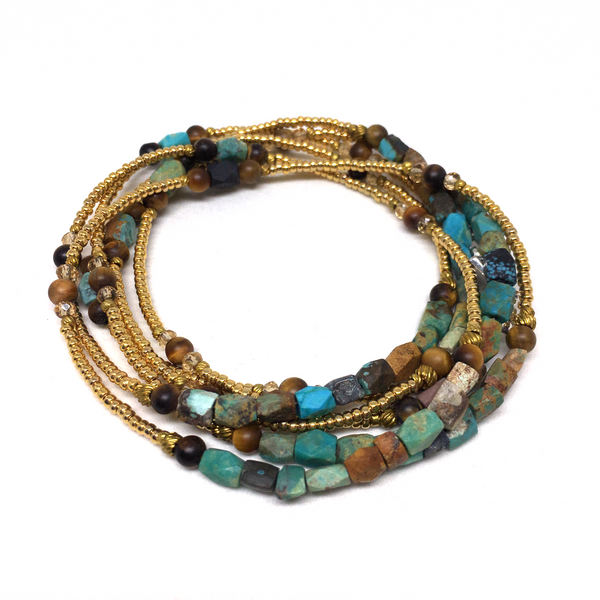 Le Voyageur AFGHANISTAN TURQUOISE WRAP