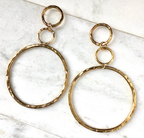Infinity Statement Hoops in Brass