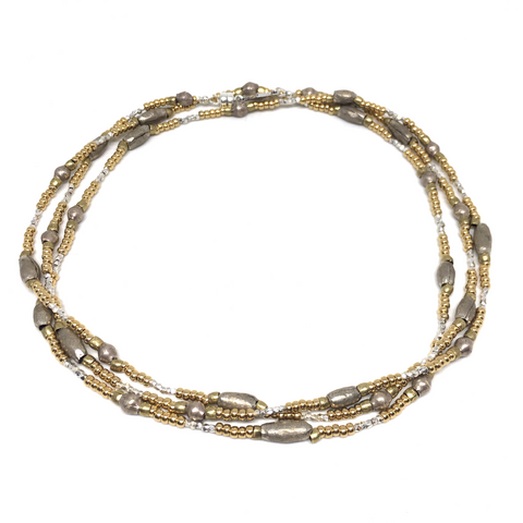 PRANA WRAP ETHIOPIAN BRASS & WHITE METAL